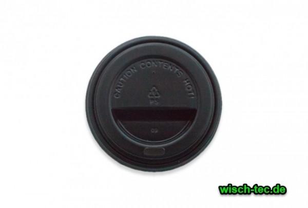 Deckel für 0,3 l / 0,4 l Coffee To Go Becher schwarz 90er 100 Stück