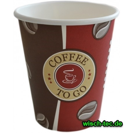 Becher Coffee To Go Cup 200 ml 50 Stück