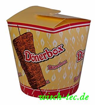 """Foodboxen rund """"Döner Kebap"""" 16 oz"""
