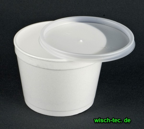 Kunststoffschnappdeckel für Suppenbehälter transparent 50 Stück
