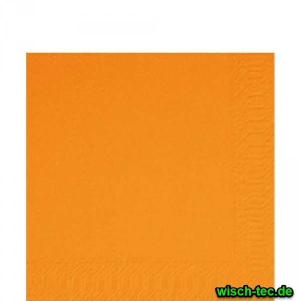 Prägeervietten Orange 33 x 33 cm 1/4 Falz 250 Stück