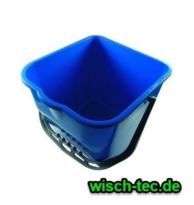 Kunststoffeimer 15 Liter viereckig blau