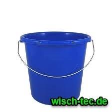 Eimer 10 Liter blau rund mit Metallbügel