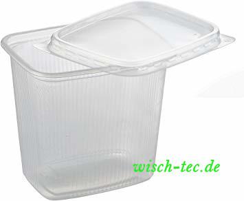 Verpackungsbecher mit Deckel 500 ml 50 Stück