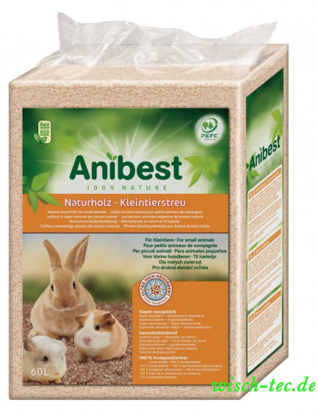 ANIBEST FSN Naturholz-Kleintierstreu 60 L