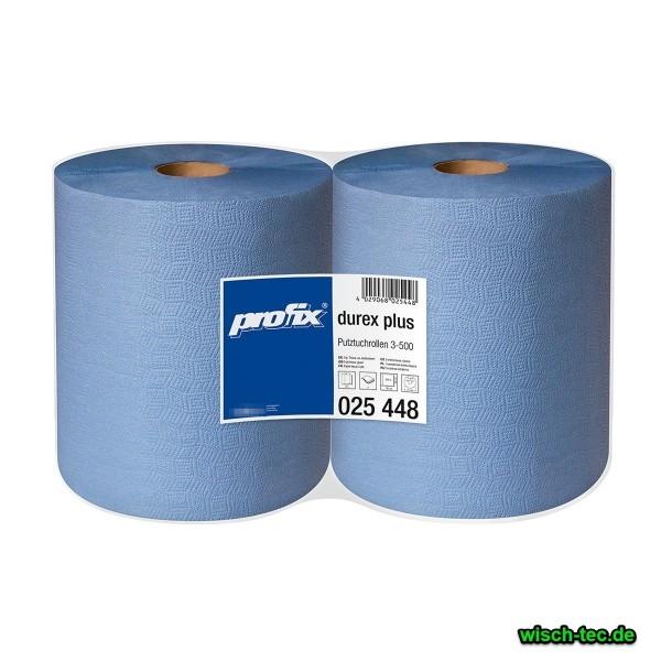 Putzrolle blau 3-lagig 2er Pack