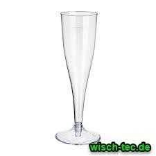 Sektglas 0,1 l Kunststoff glasklar 2 teilig 6 Stück