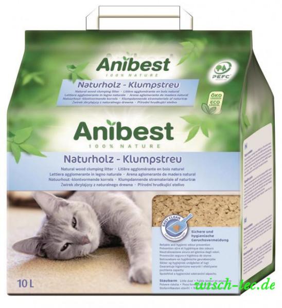 ANIBEST GHK Naturholz-Klumpstreu 10 L