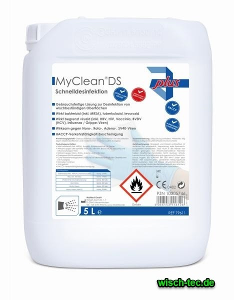 Schnelldesinfektion My Clean DS 5 Liter