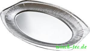 Partyplatten Aluminium Oval