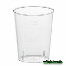Schnapsglas glasklar 2 cl / 4cl 40 Stück