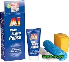 A1 Nano Kratzer Polish 50 ml Tube + Schwamm + Tuch